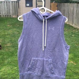 Under armour hooded sleeveless sweatshirt